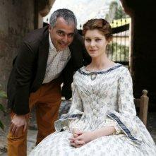 La Pegna con Vittoria Puccini sul set de LA BARONESSA DI CARINI