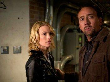Nicolas Cage con January Jones in Solo per vendetta (2011)