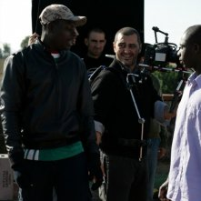 Una immagine dal set del film Là-bas (2011)