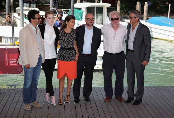 Clooney A Venezia 2011 Con Grant Heslov Rachel Wood Marisa Tomei Paul Giamatti Philip Seymour Hoffma 212985