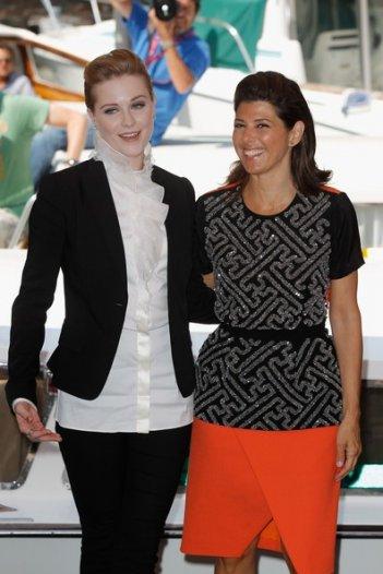 Evan Rachel Wood e Marisa Tomei a Venezia 2011 presentano Le idi di marzo
