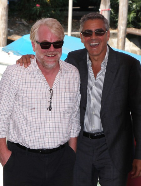 George Clooney Alla 68Esima Mostra Del Cinema Di Venezia Con Philip Seymour Hoffman Per Presentare L 212984