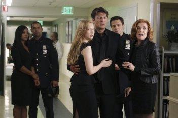 Castle: un momento dell'episodio Rise, premiere della quarta stagione della serie