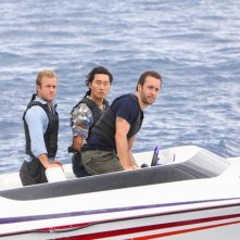 Daniel Dae Kim, Scott Caan ed Alex O'Loughlin in una scen dell'episodio Ha'iole, premiere della seconda stagione di Hawaii Five-0
