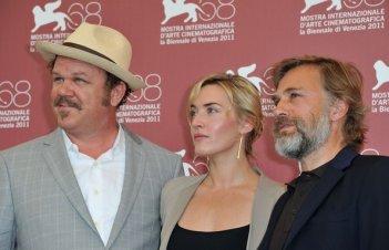 Kate Winslet a Venezia 2011 presenta Carnage di Polanski con Christoph Waltz e John C. Reilly