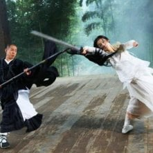 The Sorcerer and the White Snake, una sequenza di combattimento del film