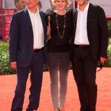 Fabrizio Bentivoglio e Barbora Bobulova presentano Scialla alla Mostra di Venezia nel 2011 con Francesco Bruni