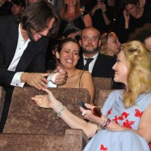 Joaquin Cortes saluta Madonna poco prima della premiere di Edward e Wallis, a Venezia 2011