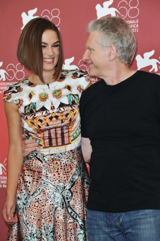 Keira Knightley e David Cronenberg alla Mostra di Venezia 2011 con A Dangerous Method