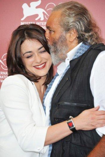 Valentina Lodovini e Diego Abatantuono durante il photo call di Cose dell'altro mondo a Venezia 2011