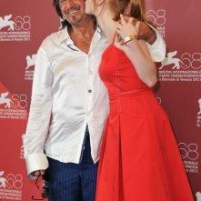 Al Pacino a Venezia 2011 con Jessica Chastain per presentare Wilde Salome