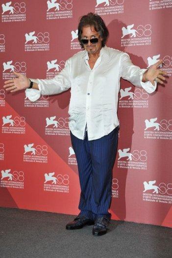 Al Pacino a Venezia 2011 per presentare il suo Wilde Salome