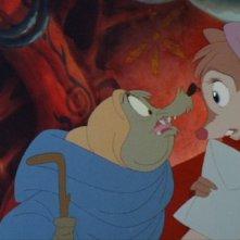 Una scena del film d'animazione Brisby e il segreto di NIMH