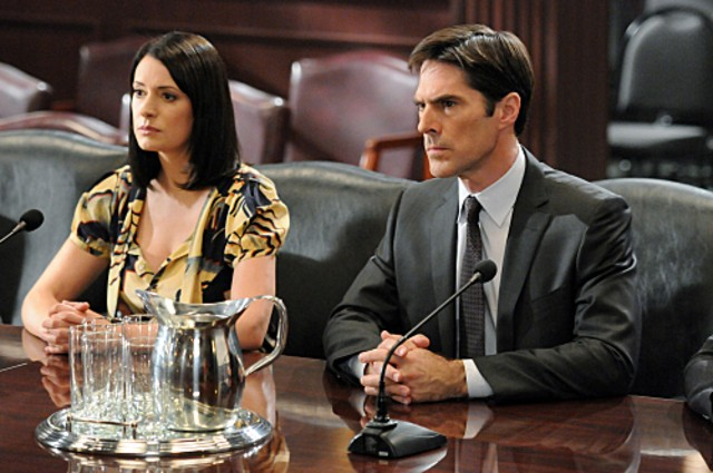 Criminal Minds Paget Brewster E Thomas Gibson Nell Episodio It Takes A Village 213692