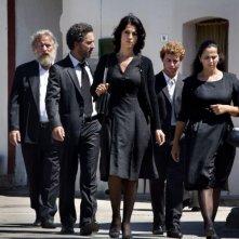 Donatella Finocchiaro in Terraferma di Crialese con Beppe Fiorello, Mimmo Cuticchio e Filippo Pucillo