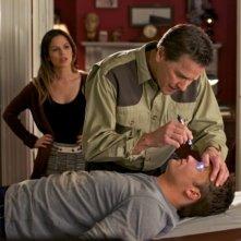 Rachel Bilson, Tim Matheson e Scott Porter nel pilot della serie Hart of Dixie