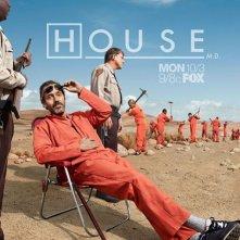 Dr House: un poster della stagione 8 della serie
