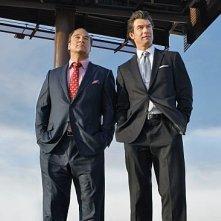 The Defenders: James Belushi e Jerry O'Connell in una scena del pilot della serie