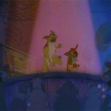 Una scena del film d'animazione Charlie - Anche i cani vanno in paradiso