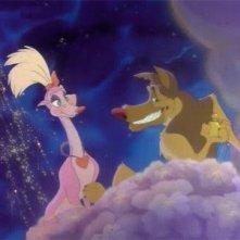 Una sequenza del film d'animazione Charlie - Anche i cani vanno in paradiso