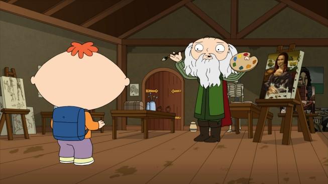Bertram Con Leonardo Da Vinci In Una Scena Dell Episodio The Big Bang Theory De I Griffin 214540