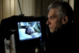 David Cronenberg sul set del suo film A Dangerous Method