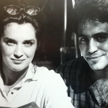 Florence Guerin con Massimiliano La Pegna durante le riprese di Quattro storie di donne (episodio: 'Carla')