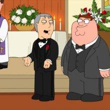 Il sindaco Adam West con Peter in una scena di Brothers & Sisters de I Griffin