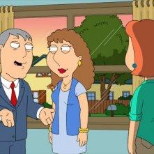 Lois con sua sorella Carol e il sindaco West nell'episodio Brothers & Sisters de I Griffin
