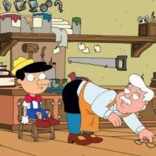 Pinocchio e Geppetto in una scena dell'episodio I due volti della passione de I Griffin