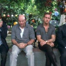 Crazy, Stupid Love: Kevin Bacon, John Carroll Lynch, Ryan Gosling e Steve Carell