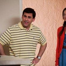 Crazy, Stupid, Love: Steve Carell e Analeigh Tipton in una scena