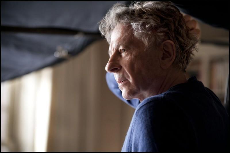 Roman Polanski sul set di Carnage, del 2011