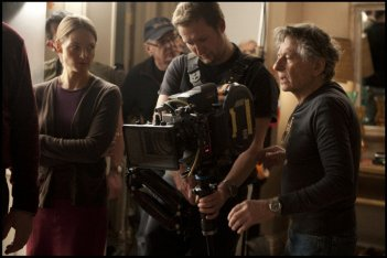 Roman Polanski sul set di God of Carnage con Jodie Foster