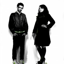 Vincent Paronnaud e Marjane Satrapi in un'immagine promozionale per il film Poulet aux prunes