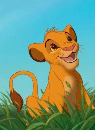 Il Re Leone: il piccolo Simba in una scena del film