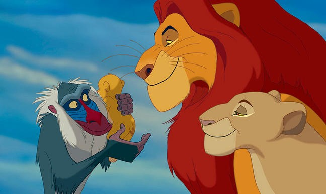 Una scena de Il re Leone (1994)