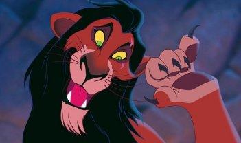 Una scena de Il re Leone con Scar, il fratello di Re Mufasa