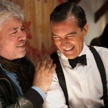 Pedro Almodovar e Antonio Banderas sul set di La pelle che abito
