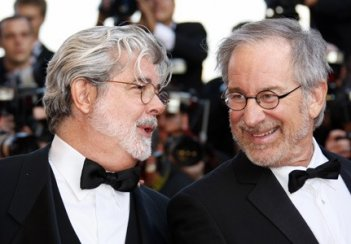 Cannes 2008: George Lucas e Steven Spielberg sul red carpet per Indiana Jones e il Regno del Teschio di Cristallo