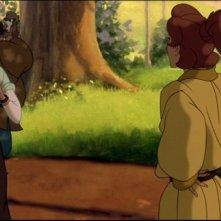 I due protagonisti in una sequenza del film d'animazione Anastasia