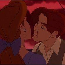 Una scena romantica del film d'animazione Anastasia (1997)