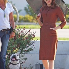Emma Stone sul set del crime movie The Gangster Squad