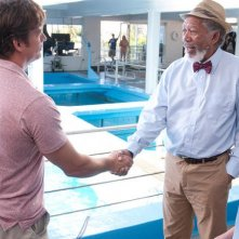 Morgan Freeman ne L'incredibile storia di Winter il delfino con Nathan Gamble e Harry Connick jr.