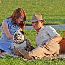 Ryan Gosling ed Emma Stone durante le riprese di The Gangster Squad