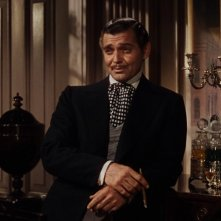 Clark Gable in una scena del film Via col vento (1939)