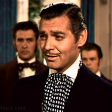 Clark Gable in una sequenza del film Via col vento (1939)