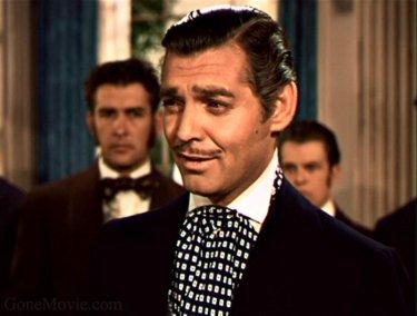 Clark Gable in una sequenza del film Via col vento (1939)