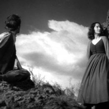 Laurence Olivier e Merle Oberon in una scena del film Cime tempestose (1939)
