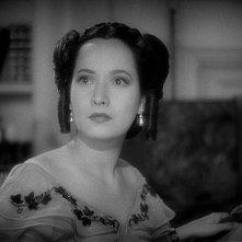 Merle Oberon in una scena del film Cime tempestose (1939)